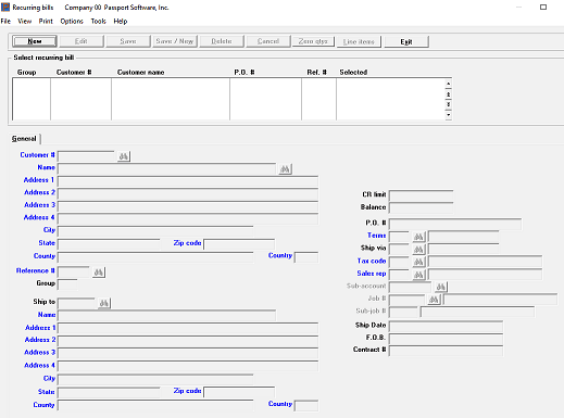 screen shot of accounts receivable solutions software
