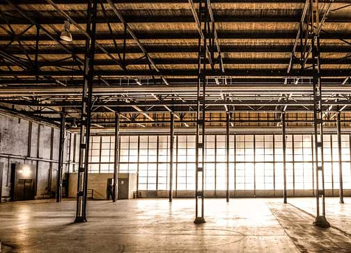 Picture of empty warehouse