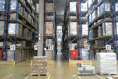 An organized warehouse using master scheduling