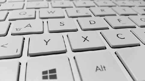 Picture of computer keyboard used for small business software