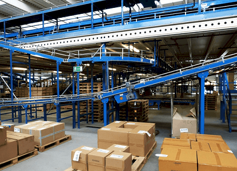 a manufacturing warehouse