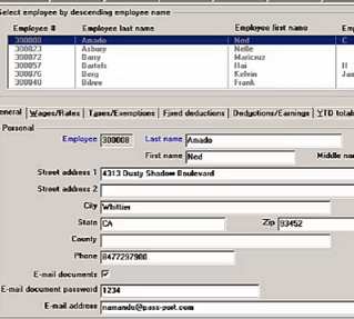 Screenshot of our payroll software for small business