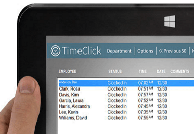Picture of Timeclick time clock software